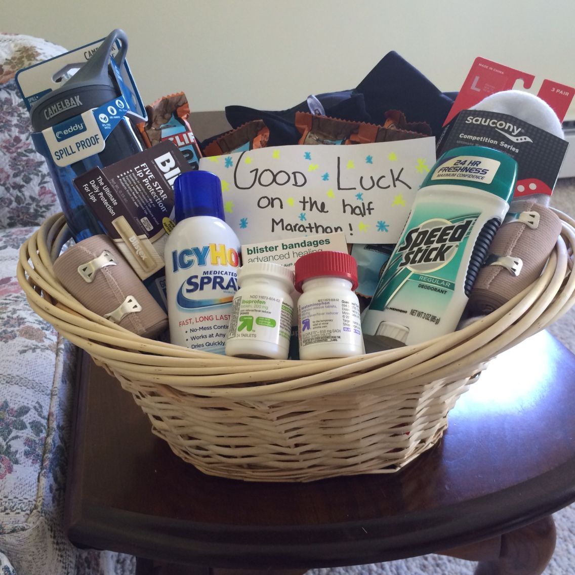 Gift basket for a runner in your life marathon gift