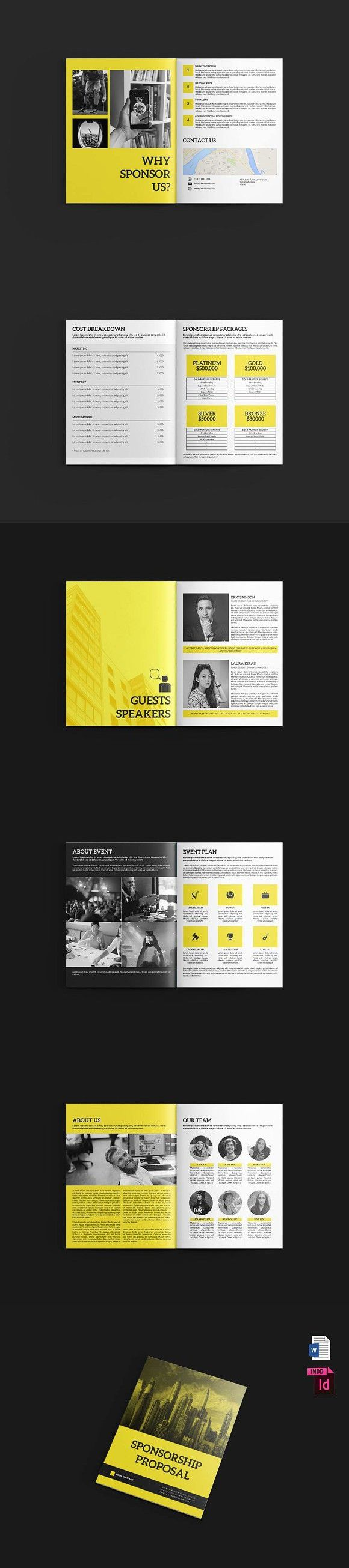 event sponsor proposal%0A Sponsorship Proposal v   MS Word   Marketing