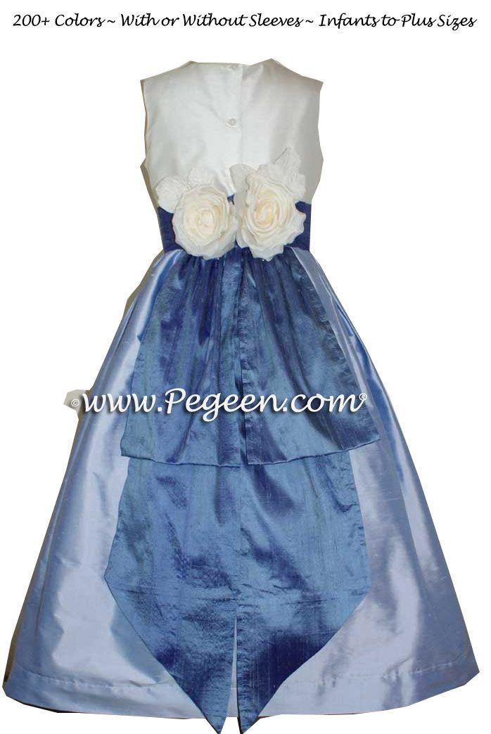 294d5c15ed4 Flower Girl Dress in hydrangea blue and wisteria purple