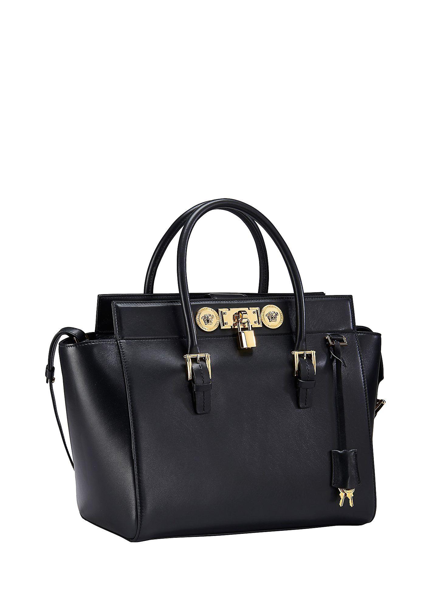 b365b2500786 Large Signature Lock Handbag. Large Signature Lock Handbag Versace ...