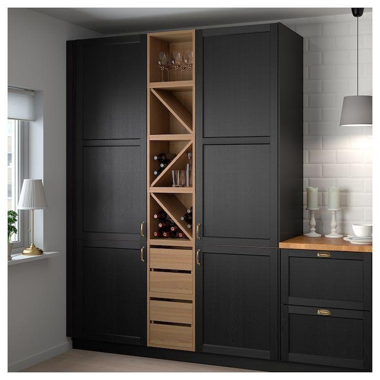 Vadholma Bloc Tiroirs Brun Frene Teinte Ca Fr Ikea Kitchen Trends Wine Shelves Kitchen Furniture