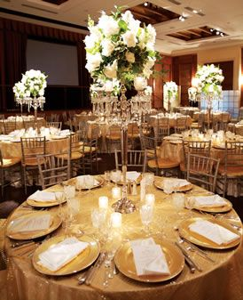 white and gold wedding table decorations gold tablecloths would be so wedding 1298