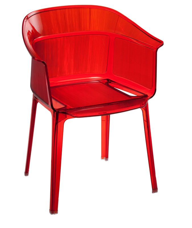 Allsorts Dining Chair Transparent Red - Zuo Modern | domino.com