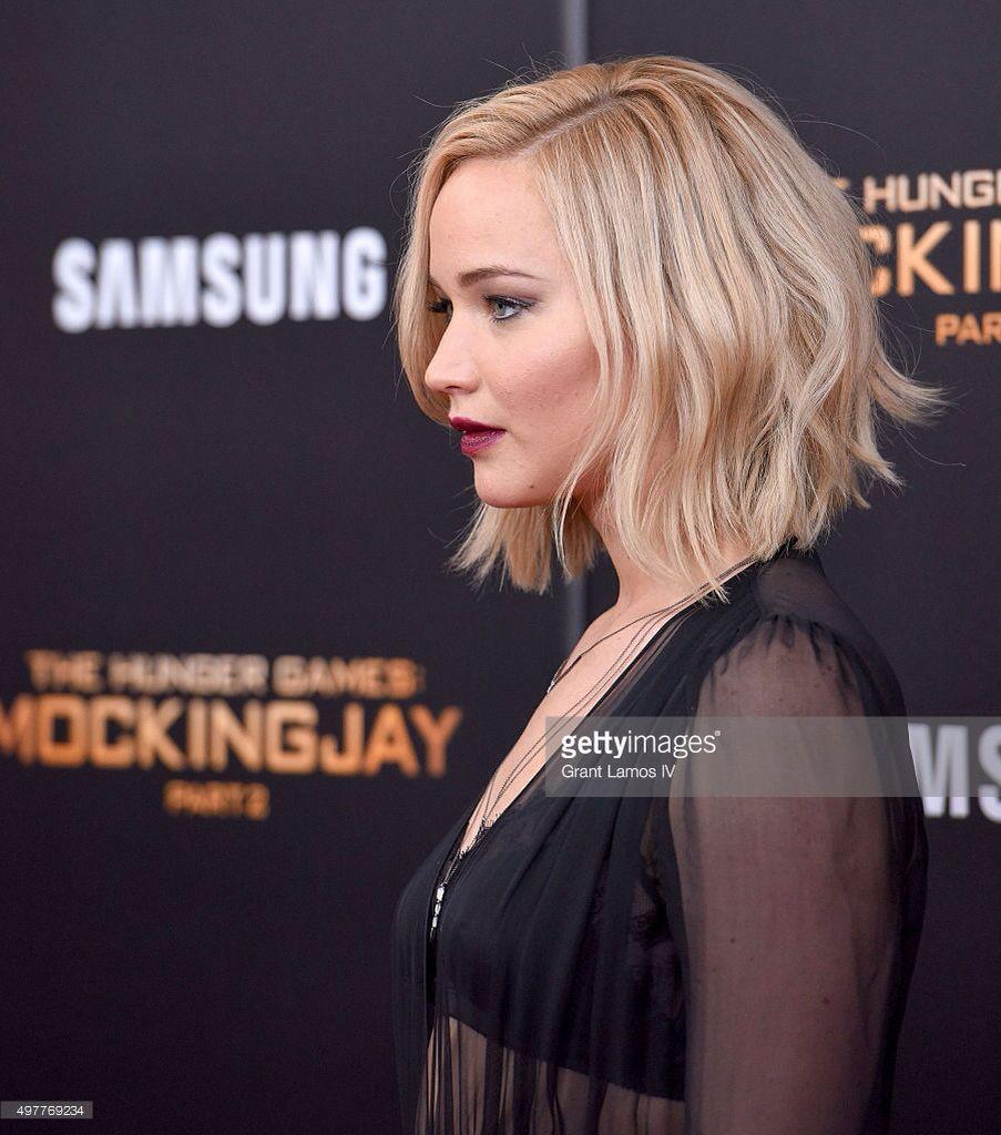 Jennifer Lawrence Bob Haircut Frisuren Haarschnitt Jennifer Lawrence Haar