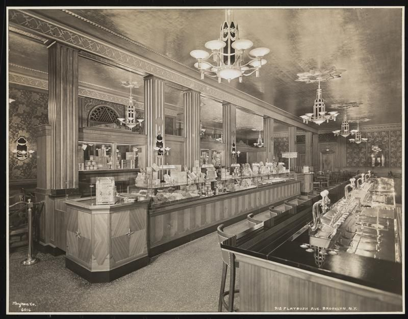 Schrafft's 912 Flatbush Ave. B'klyn, Interior, Candy Counter and Fountain from Front.