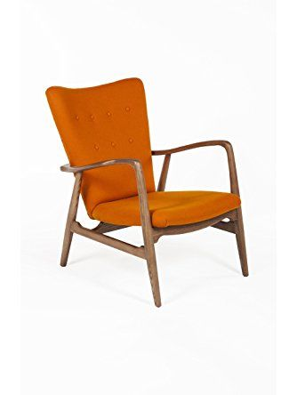 Exceptional Control Brand The Burgos Lounge Chair, Orange ❤ Control Brand   Furniture    Drop Ship