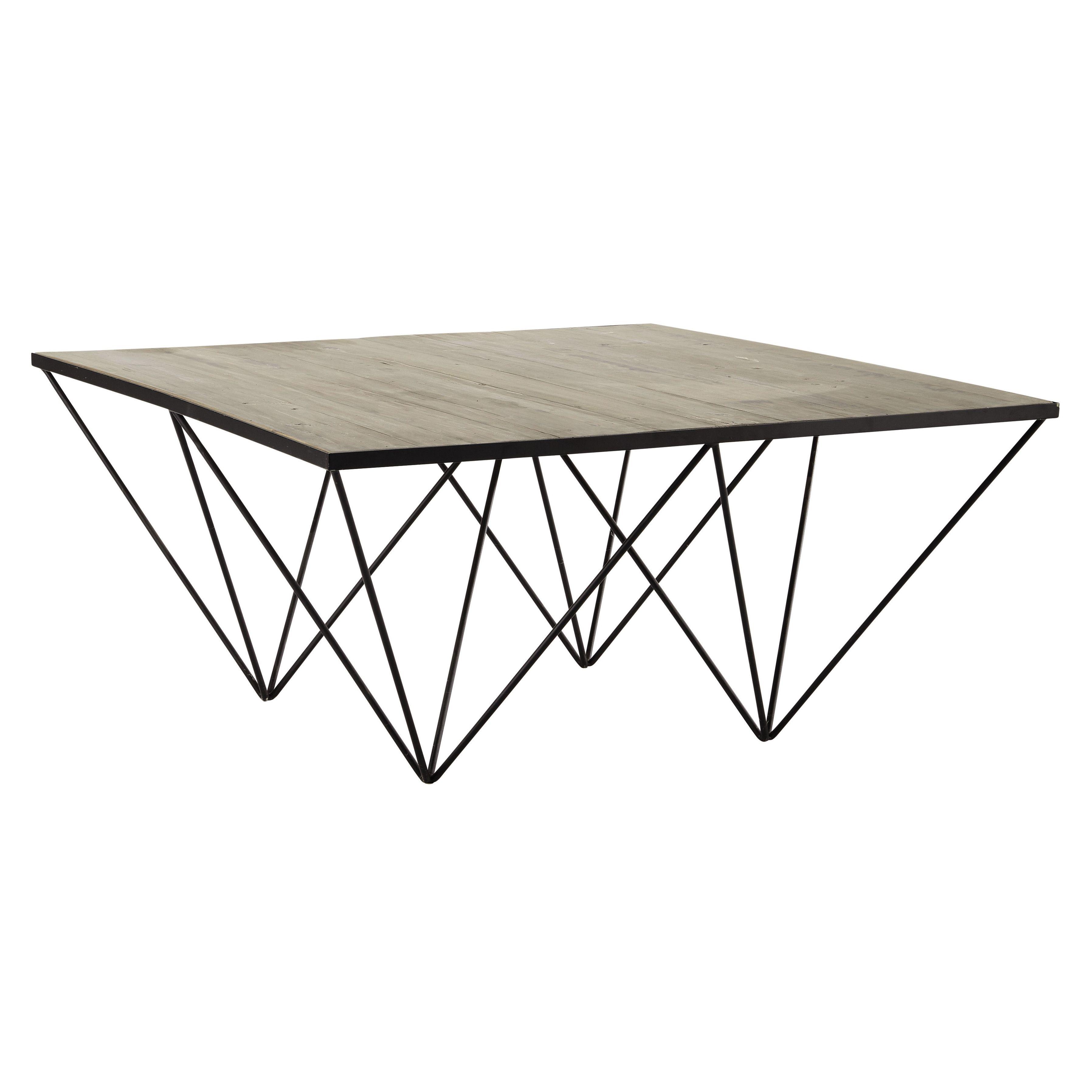 Table Basse Carree En Bois Recycle Et Metal L 100 Cm Diamond Table Basse Carree Table Basse Table Basse Carree Bois