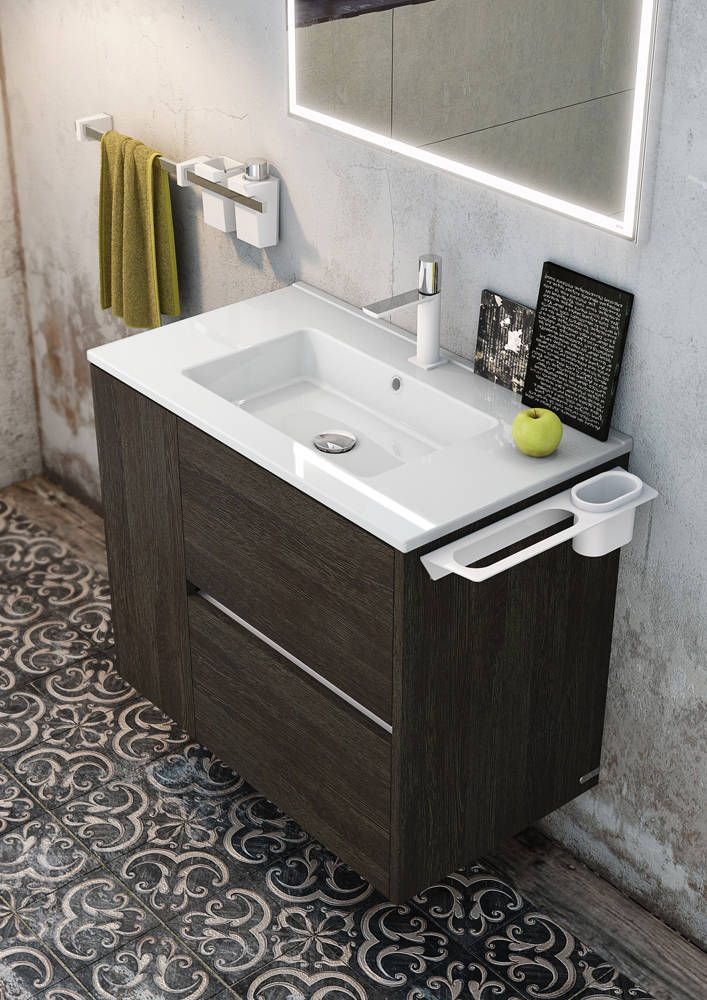 Mueble para ba o l nea code ba os de estilo de sonia for Mueble de pared industrial