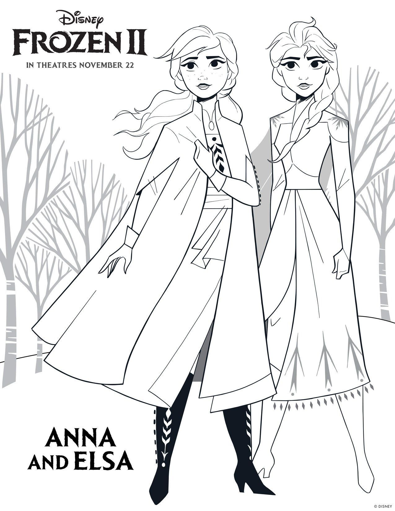 Frozen Printable Coloring Pages Disney S Frozen 2 Printable Color Sheets High Disney Princess Coloring Pages Free Disney Coloring Pages Princess Coloring Pages