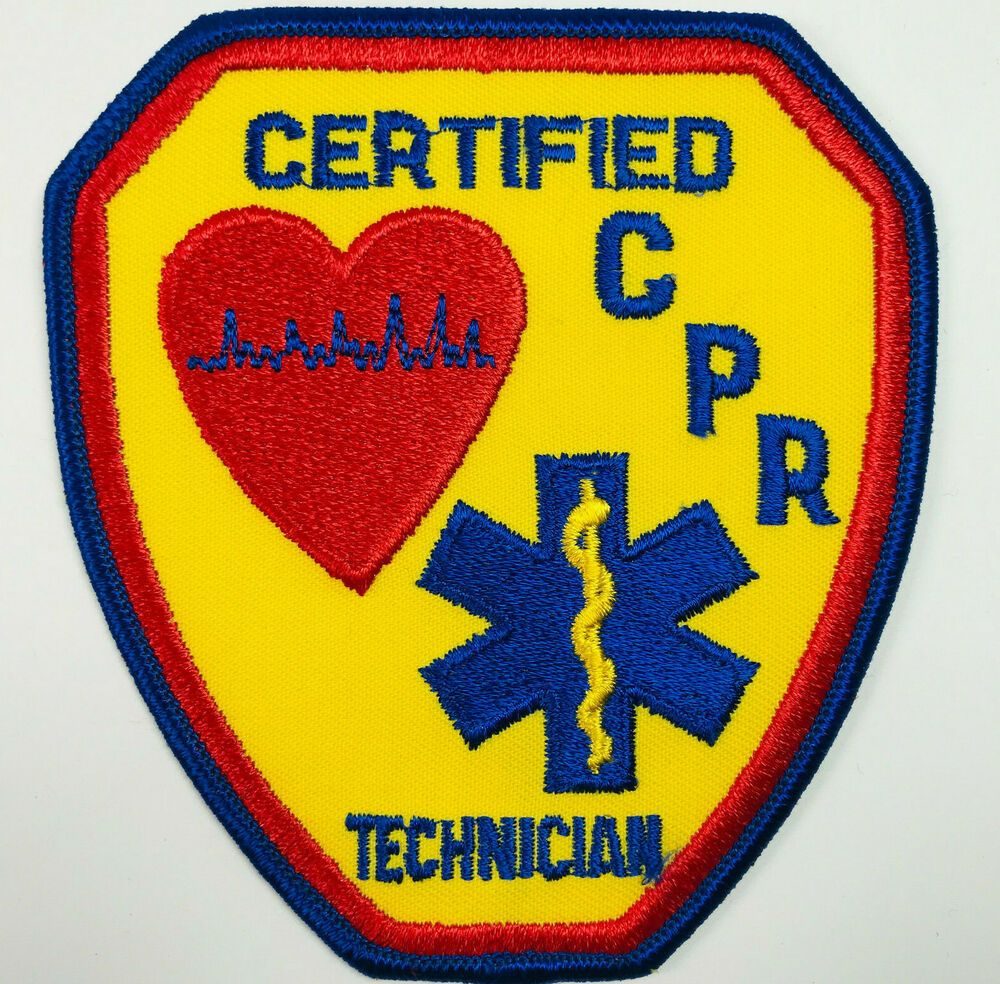 Certified CPR Technician Patch in 2020 Patches, Patches
