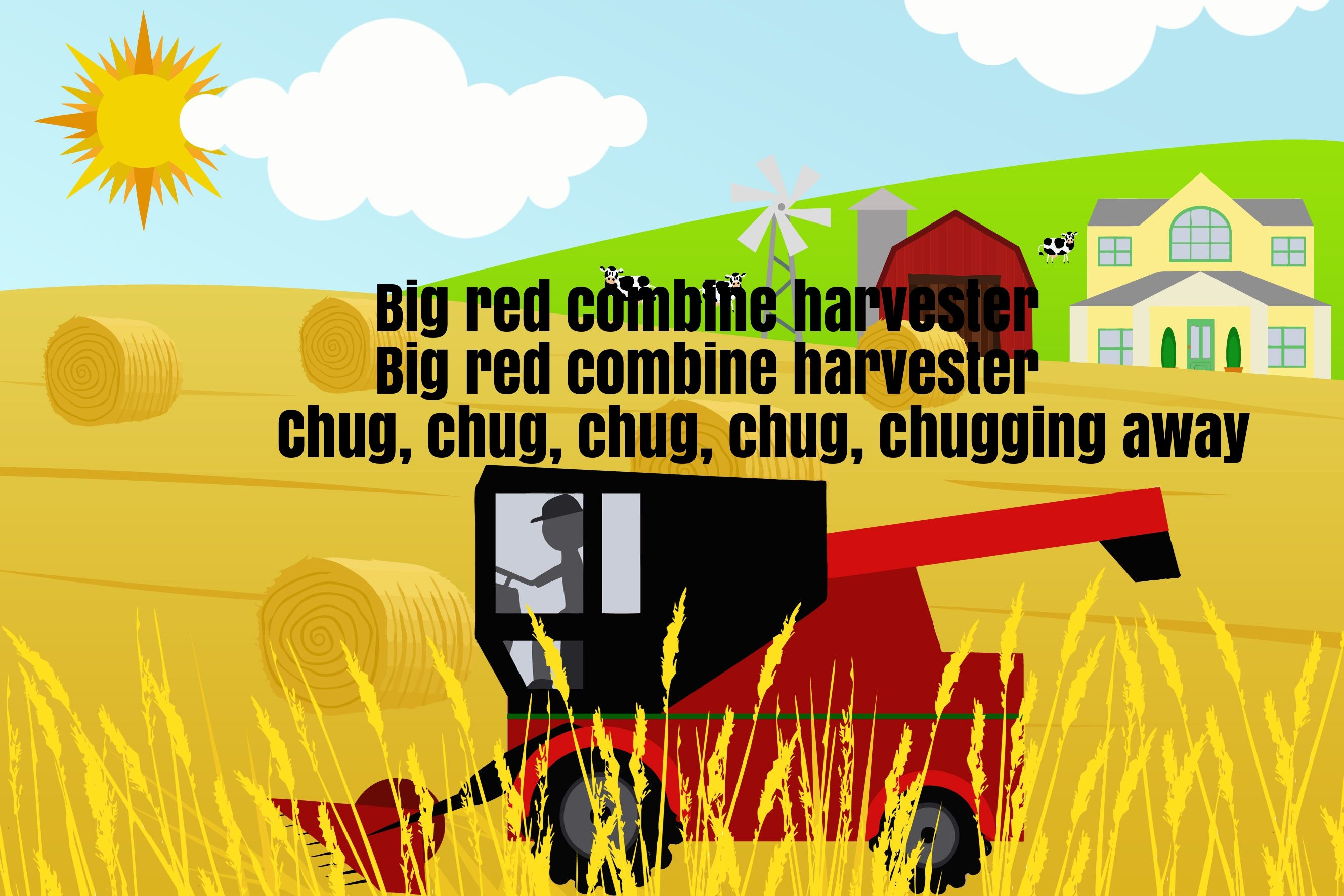 Big Red Combine Harvester Song Lyrics Cool Baby Stuff Songs Lyrics