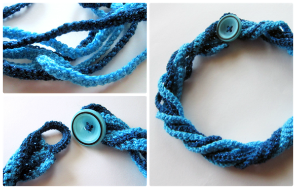 Quick, easy crocheted necklace to make.