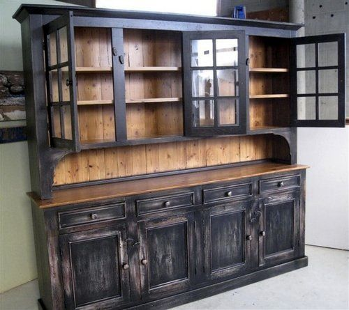 Charming Tall Rustic Dining Room Side Board | Home / / China Cabinets U0026 Hutches /  Custom Rustic Dining Room Hutch
