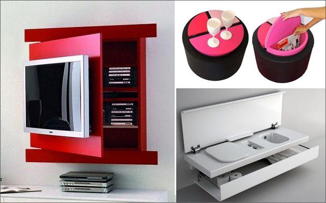 Mueble multifuncional para espacios peque os muebles funcionales pinterest - Muebles funcionales para espacios reducidos ...