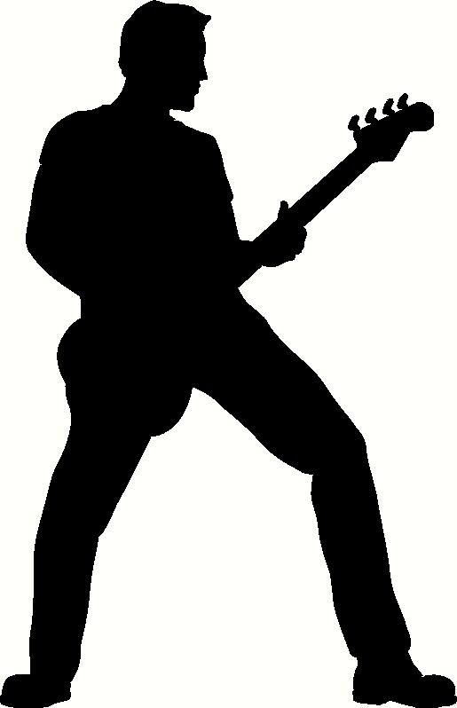 Free Download Guitar Player Silhouette Clipart For Your