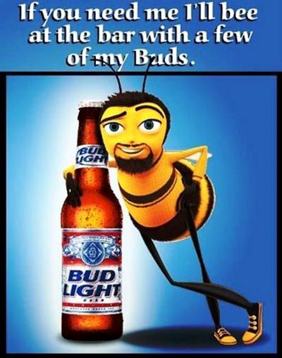 Funny budweiser pics budweiser beer commercial a bee standing funny budweiser pics budweiser beer commercial a bee standing next to a bottle with aloadofball Choice Image