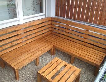 sitzbank balkon selber bauen outdoor-lounge selber bauen garten,holz,möbel,sommer,bau