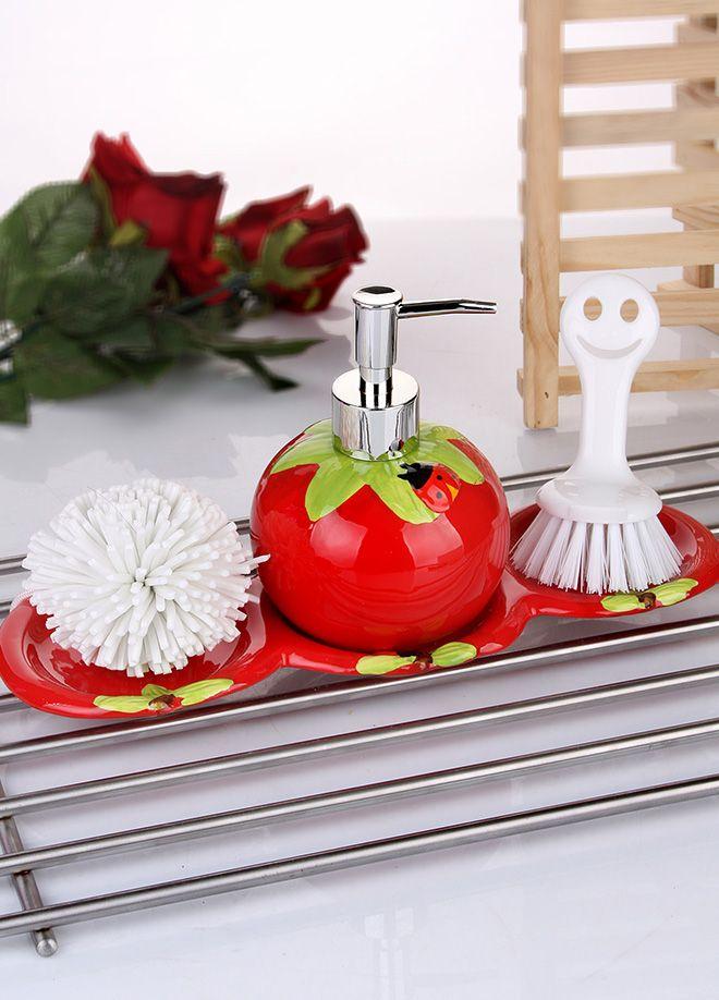 ادوات مطبخ باللون الاحمر تحفة منتدى فتكات