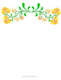 Yellow Floral Border Yellow Flower Swag Border Clip Art Frames