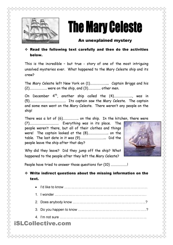 The Mary Celeste Mystery | story writing | Pinterest