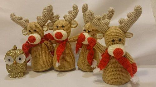 Amigurumi Uncinetto Schemi Gratis : Renna natalizia amigurumi schema cucito creativo amigurumi