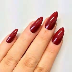 Dark Red Stiletto Nails Bing Images Nails Red Stiletto Nails