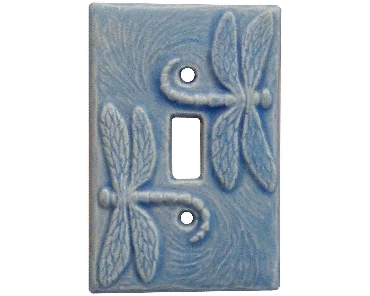 Ceramic Light Switch Covers Ceramic Light Switch Cover Dragonflies Single Toggle In Tan