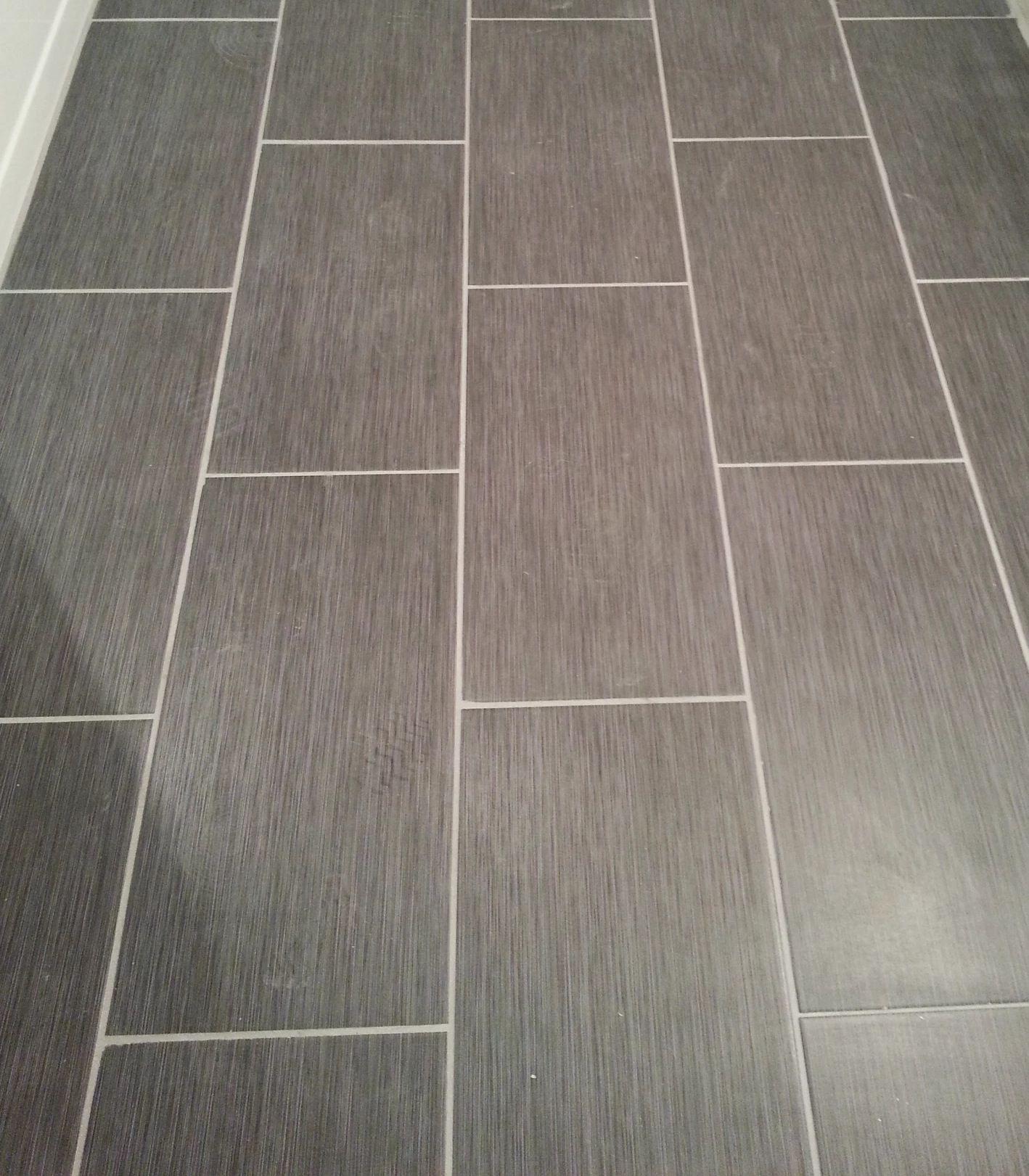 Kitchen Floor Tiles Home Depot Amazon Cabinets Metro Gris 12x24 Tile In My Bathroom