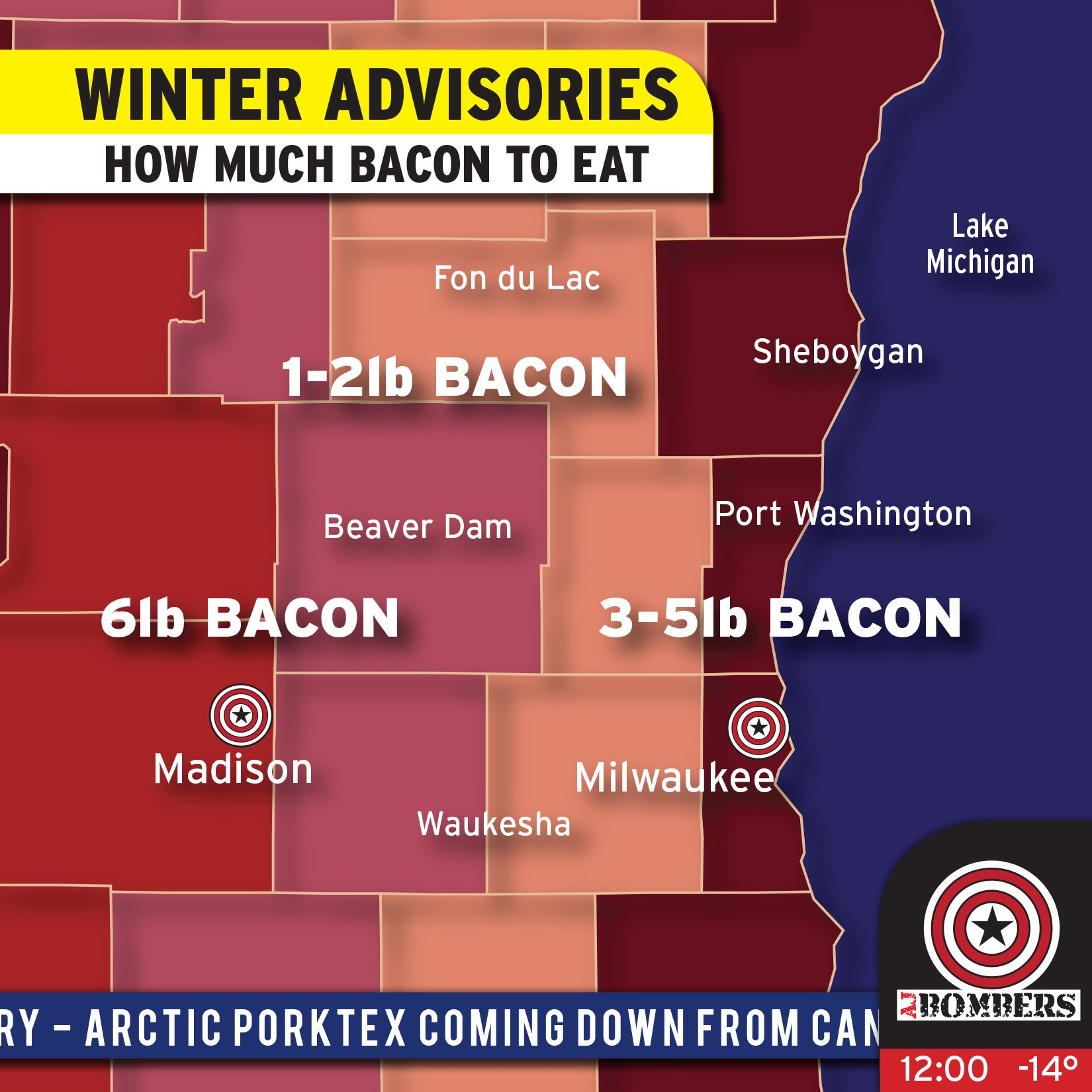 A handy Bacon Gauge for the impending Arctic Vortex.