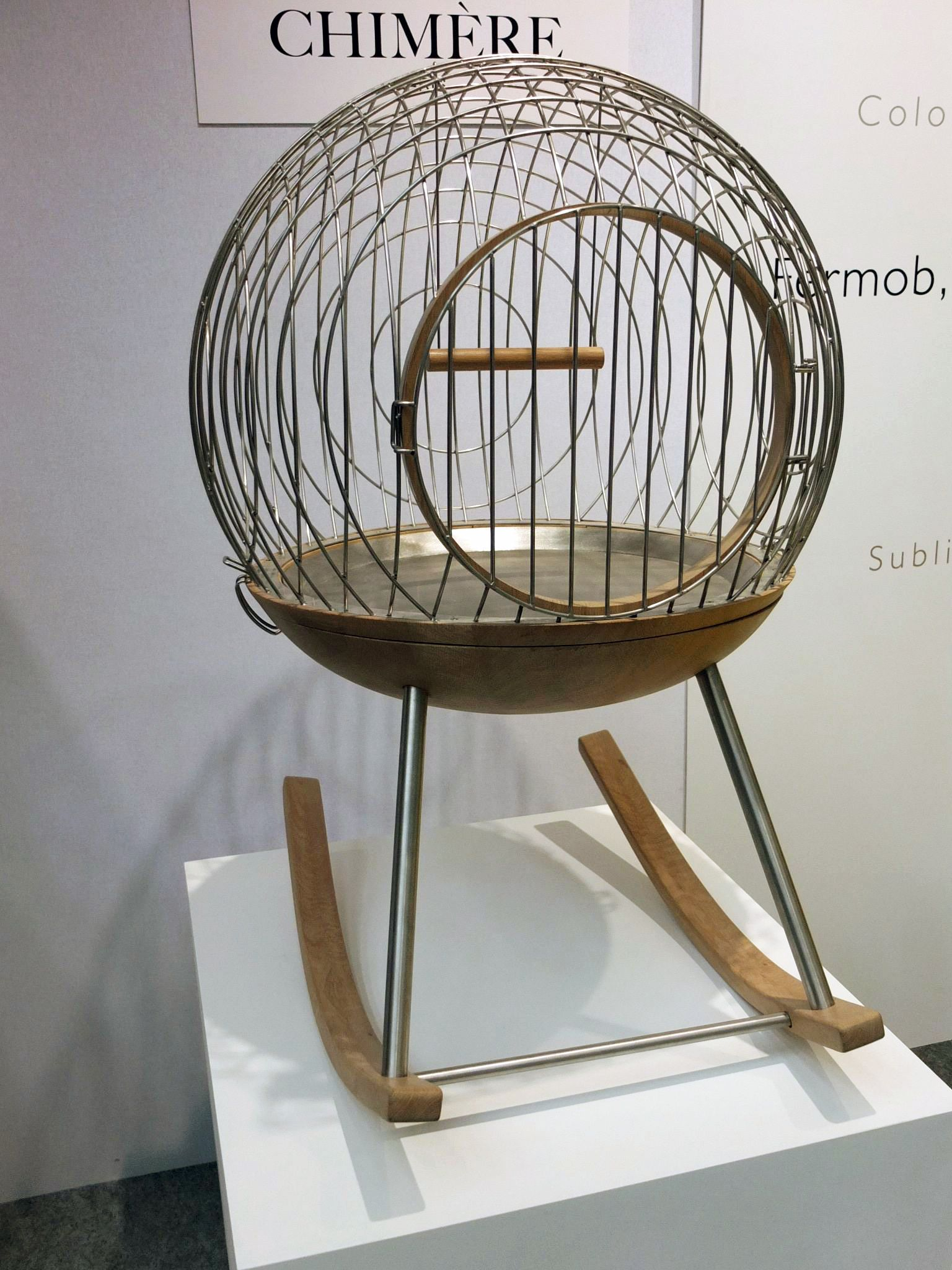 A rocking birdhouse, designed by Chimere. #salonedelmobile #milan2012