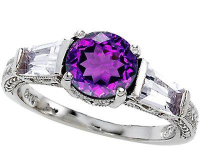 Amethyst Wedding Rings | ø Silver Amethyst Rings | Shop Online for Silver Amethyst Jewelry ø