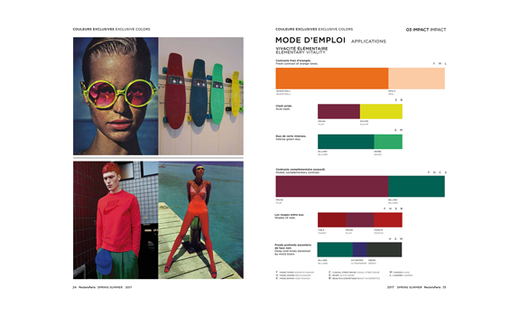 Peclers Paris Cahier de tendance COLORS TREND BOOK SPRING