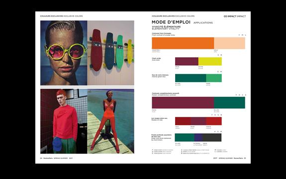peclers paris cahier de tendance colors trend book spring. Black Bedroom Furniture Sets. Home Design Ideas