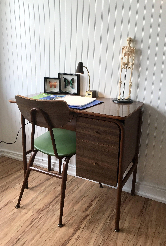 Mid Century Desk With Chair Gooseneck Light Modern Home Office Furniture Minimalist Computer Vintage Description Great Looking
