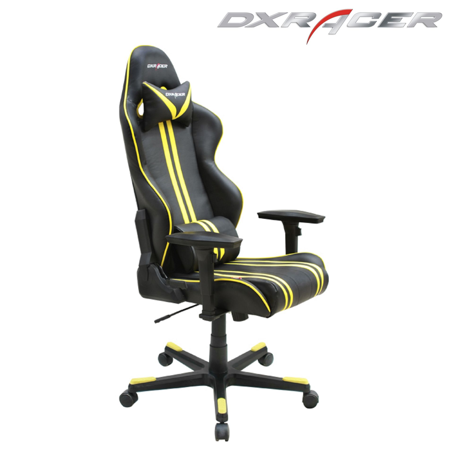 Dxracer gaming race chair RF9NY black with yellow onlinegames