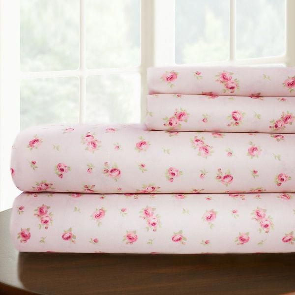 Amraupur Overseas Sweet Rose Printed 4 Piece Sheet Set Ping The Best Deals On Sheets Bedsheetsbest