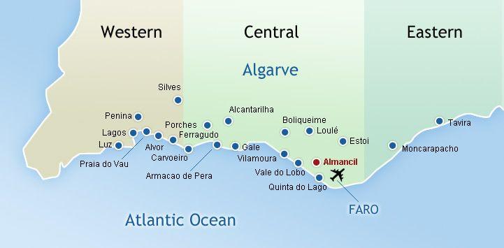 mapa almancil algarve Algarve Map   Old Almancil, Portugal   Pinterest   Algarve and  mapa almancil algarve