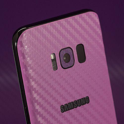 Samsung Galaxy S8 - Pink Carbon Fibre and Purple Carbon Fibre Skins