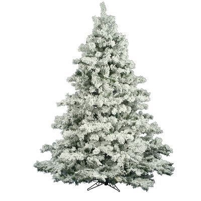 The Holiday Aisle Flocked Alaskan 75\u0027 White Artificial Christmas