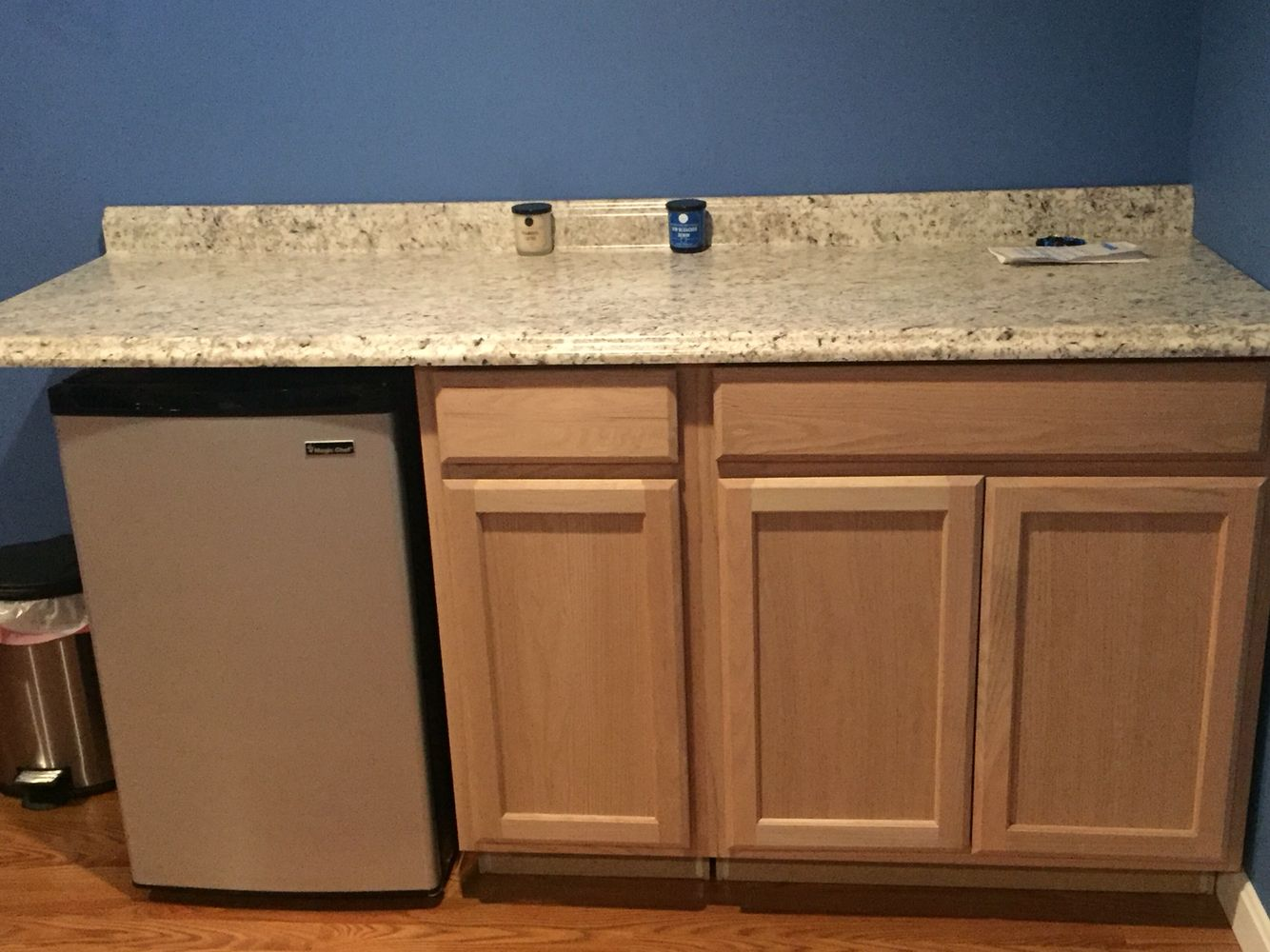 Cabinet And Countertop From Lowes Mini Fridge From Home Depot Total 450 For A Home Made Bar For Basement Homemade Bar Home Mini Bar