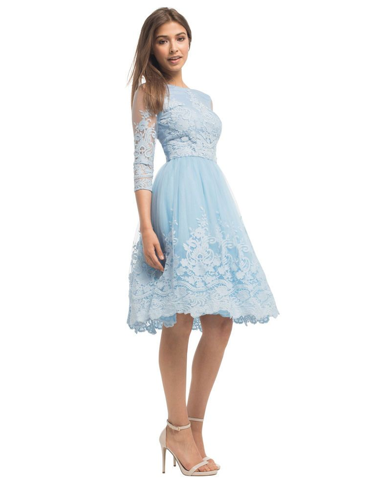 Chi Chi Estee Dress Blue Size Uk 10 Lf089 Hh 15 Fashion Clothing Shoes Accessories Womensclothing Dresses Ebay Link Modest Lace Dress