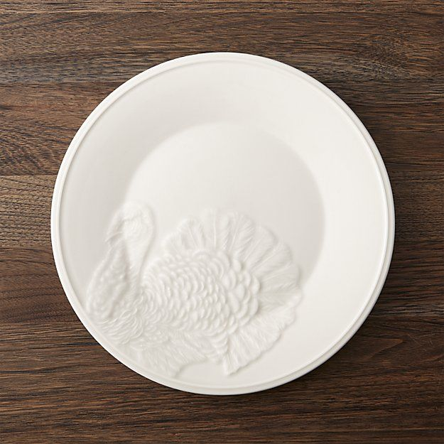 This dinner plate layers Thanksgiving place settings with the classic look of cream-glazed earthenware & This dinner plate layers Thanksgiving place settings with the ...