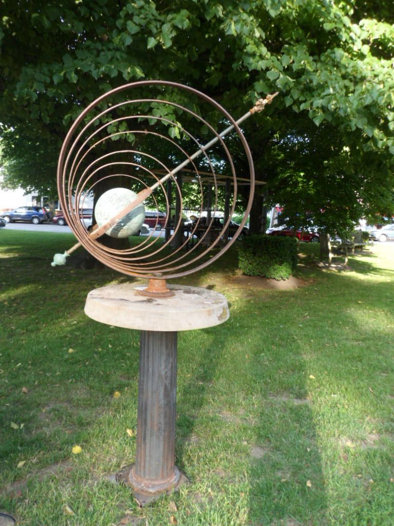 Garden Armillary Sphere Designed By Gary Hume. Primarily, Made With 19th  Century Parts. Each Of The Inner Rings Move Independently.