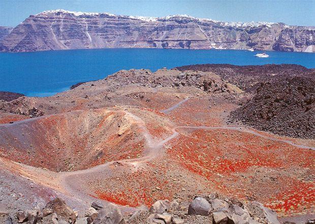 Resultat d'imatges de volcán de nea kameni y palea