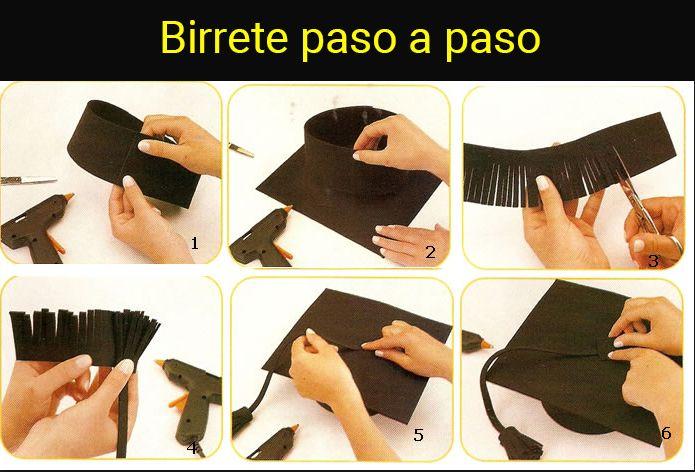 birrete paso a paso | egresaditos | Graduation diy ...
