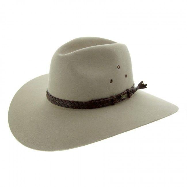 a536ffb7105 Akubra Riverina Traditional Australian Made Bush Cowboy Hat Ass Colors Size  51-6