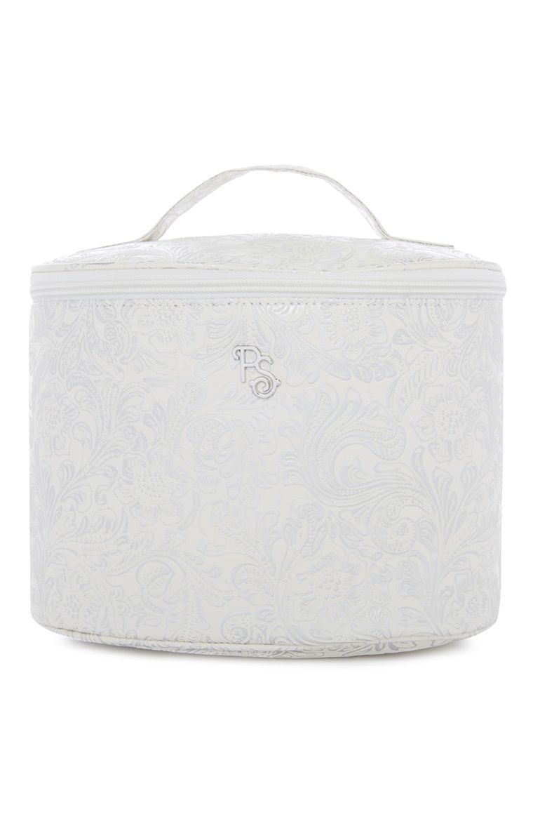 For me and my maid of honor. Primark Ivory Embossed Vanity Makeup Case