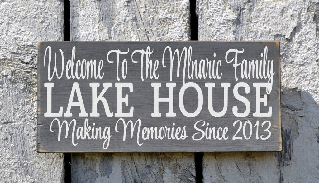 Welcome To The Lake Signs Decor Alluring Lake House Sign Lake Decor Personalized Welcome To The Lake Decorating Design