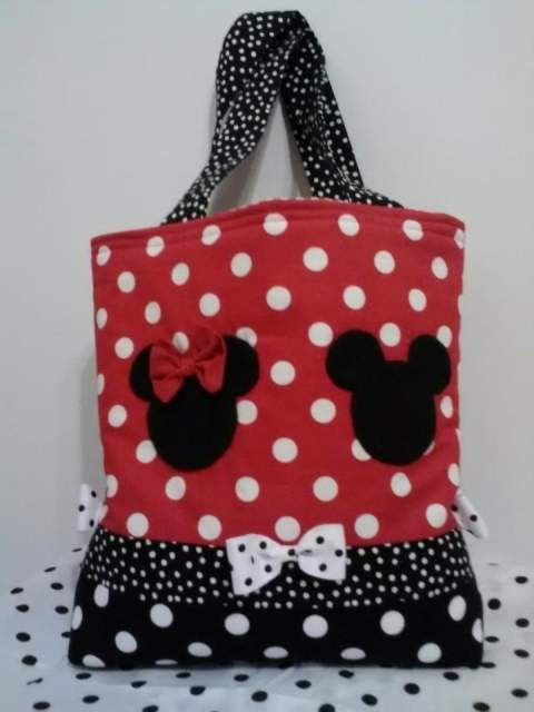 Mickey and Minnie Mouse Tote/Diaper Bag | Nähen, Patchwork-Taschen ...