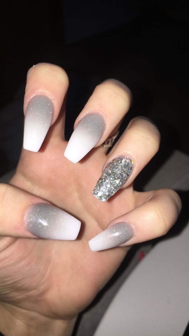 Photo of #Accent #accent nail #grey #grey #with #nail
